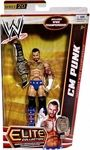 CM Punk Manufacturer: Mattel Toys Series: Elite Collection Series 20 Release Date: February 2013 For ages: 4 and up UPC: 746775181703 Details (Description): Capturing all the action and dramatic exhibition of sports entertainment, the Mattel WWE Elite Collection features authentically sculpted 6 inch figures of the biggest WWE Superstars. Figures feature deluxe articulation, amazing detail and accessories such as masks, armbands and costumes.