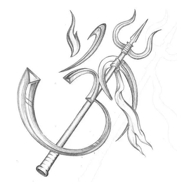 Tattoo Designs Trishul: Ohm, Trishul - Tattoo