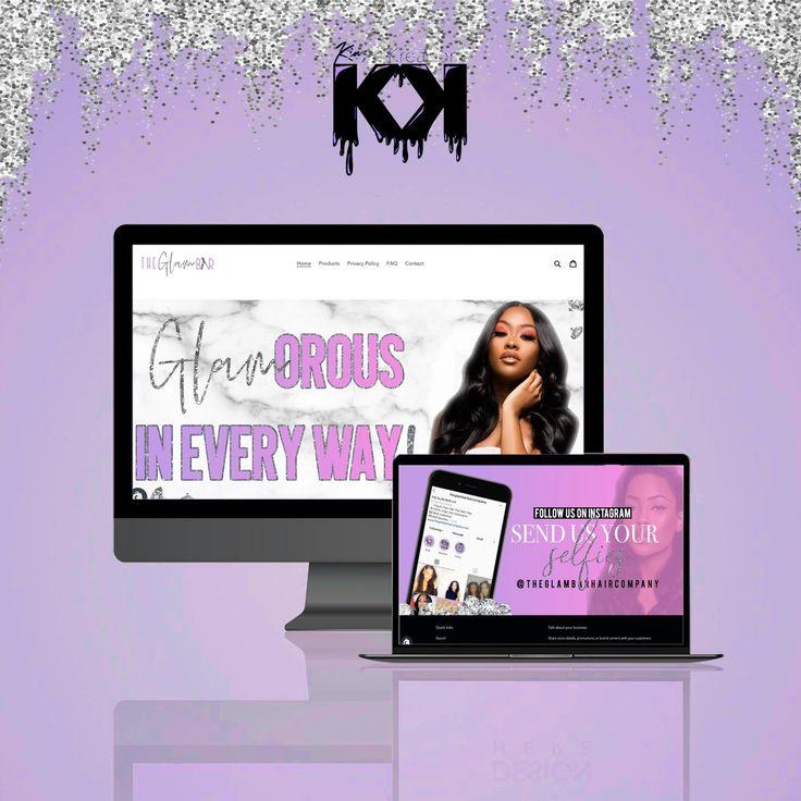 Custom full shopify website design for hair businesses