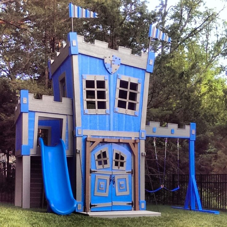 Castle playhouse wooden woodworking projects plans for Playhouse patterns