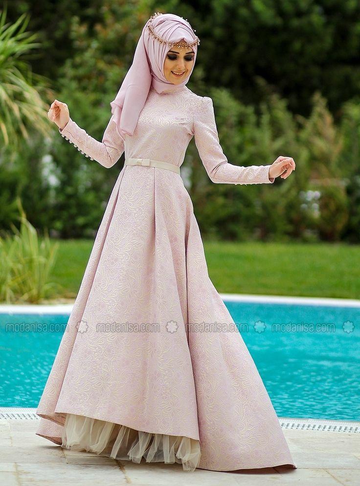 Nora Evening Dress - Gold - Muslim Evening Dresses - Modanisa