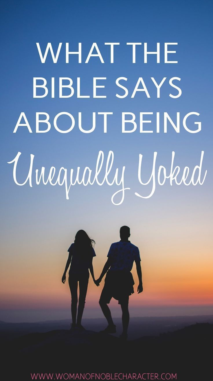 being unequally yoked in a relationship