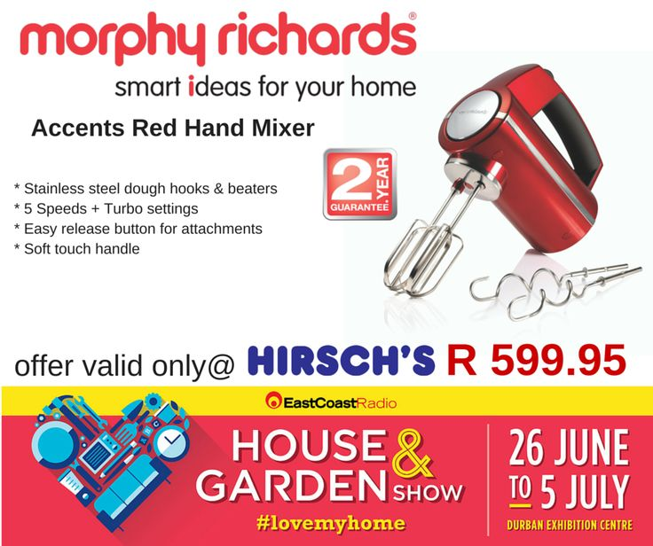 Accents Red Hand Mixer