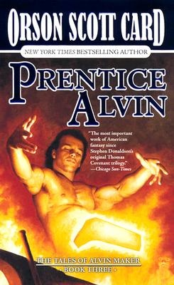 The Tales of Alvin Maker series continues in volume three, Prentice Alvin. Young Alvin returns to the town of his birth, and begins his apprenticeship with Makepeace Smith, committing seven years of his life in exchange for the skills and knowledge of a blacksmith. But Alvin must also learn to control and use his own talent, that of a Maker, else his destiny will be unfulfilled.