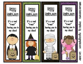 halloween bookmarks 4 designs - Halloween Book Marks