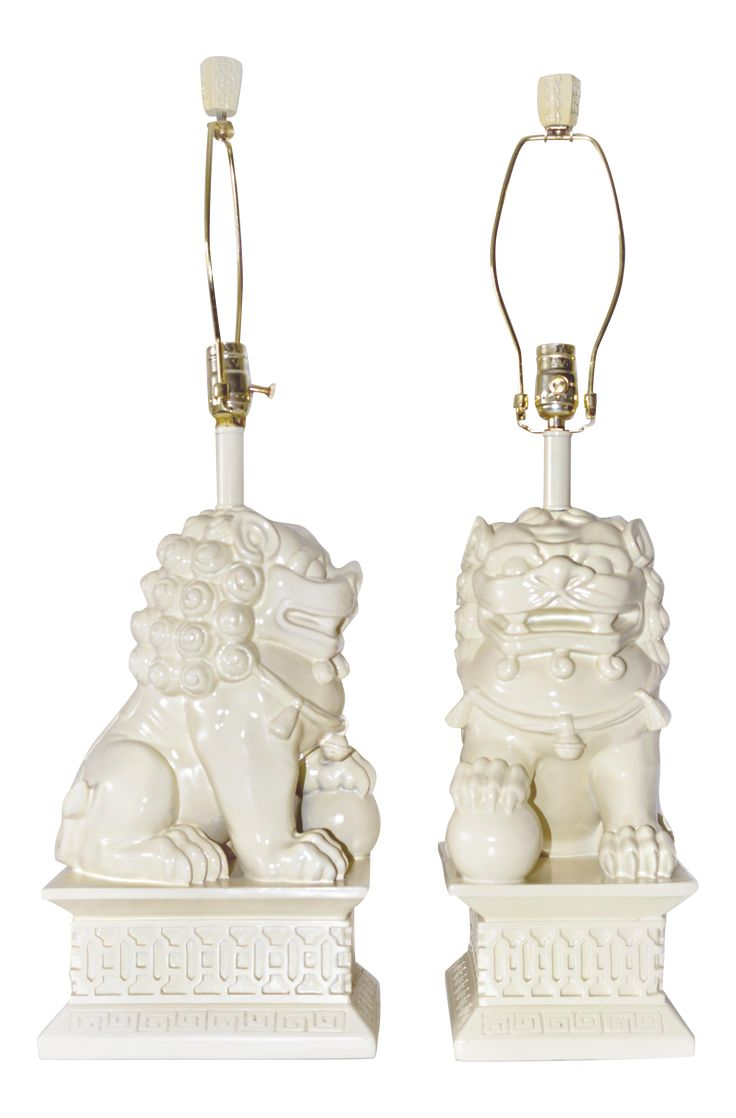 Barbara Cosgrove Foo Dogs Table Lamps - A Pair on Chairish.com