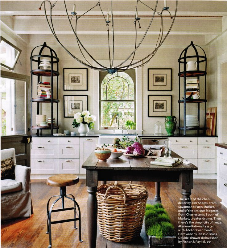 Open Iron Chandelier by Tim Adams in House Beautiful