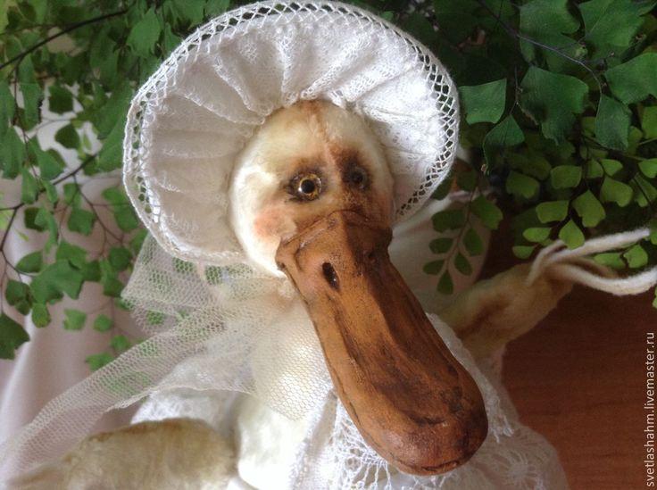 Купить Мисс Марпл - жёлтый, утка, уточка, антикварная, мишка тедди, ручная авторская работа