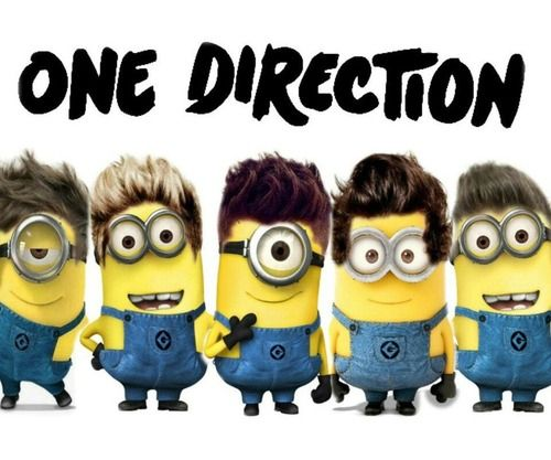 One Direction Minions  HILARIOUS!  I dont like one direction, but looooove minions!