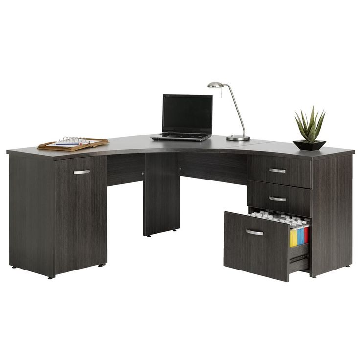 This desk looks great when needing lots of workspace for my projects and plenty of leg room. I can be productive and comfortable all day with this beautiful desk.Also provides me room to put my printer as my printer is currently sitting on my desk and can't use the space for storage.