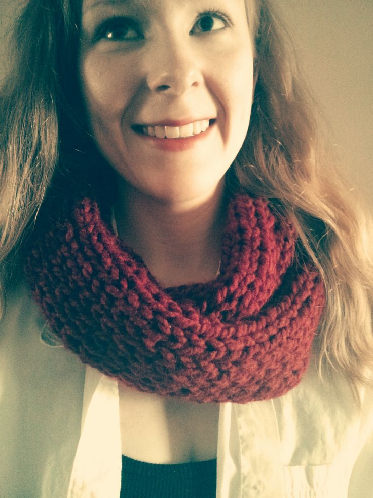 The Dolled Up chunky cowl from Copacetic Knits, with vintage filter, Etsy