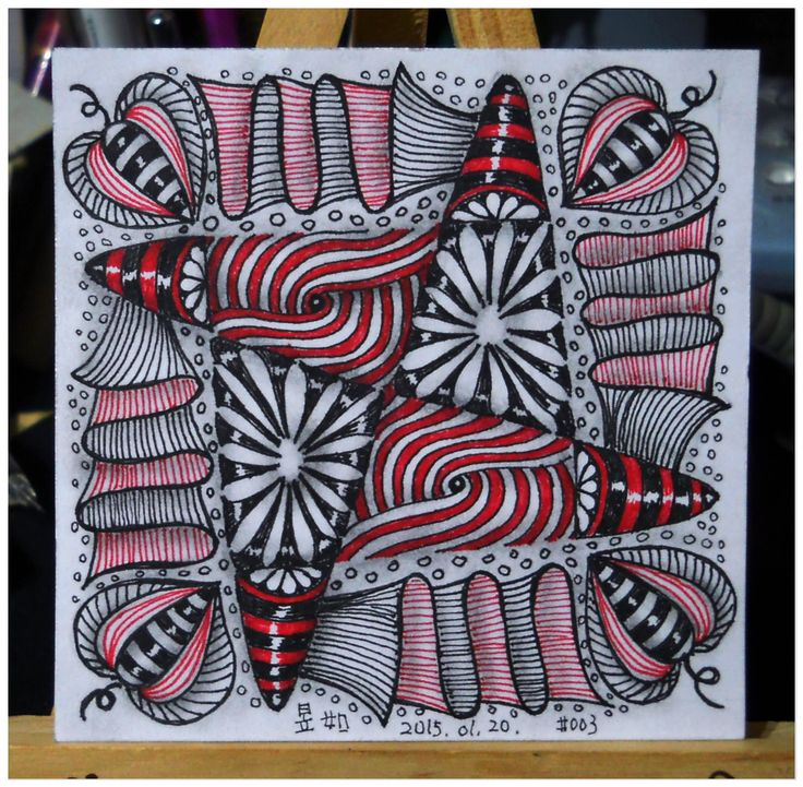 318 Best Zentangle Red Images On Pinterest
