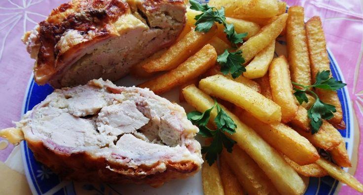 Baconos csirkemell recept őzgerinc formában