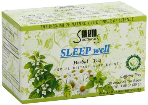 Salem Botanicals Herbal Tea Sleep Well 20 Count >>> Want additional info? Click on the image. (This is an affiliate link and I receive a commission for the sales)