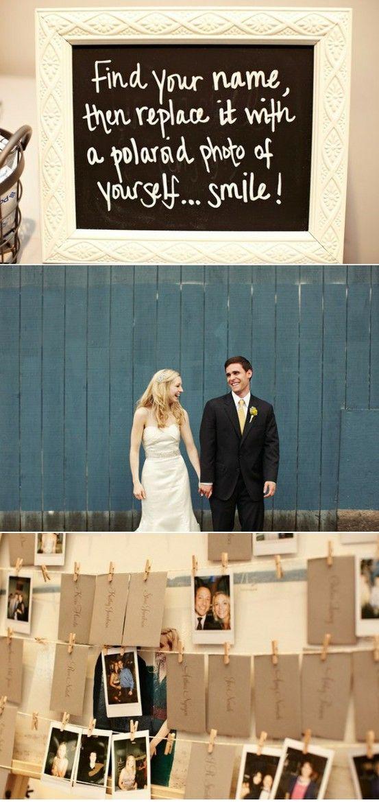 polaroid escort cards #wedding