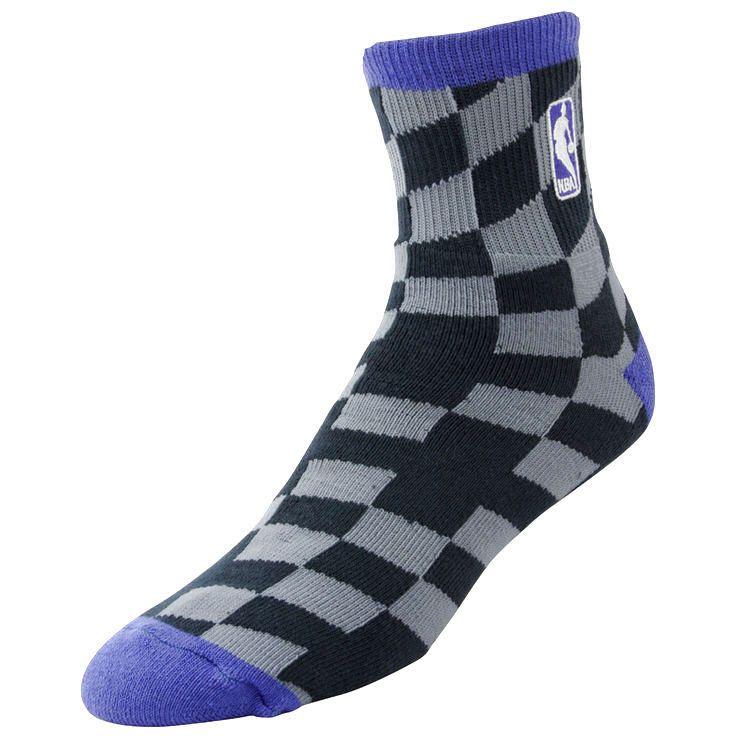 NBA Logo Champion Socks - Charcoal/Purple - $11.19