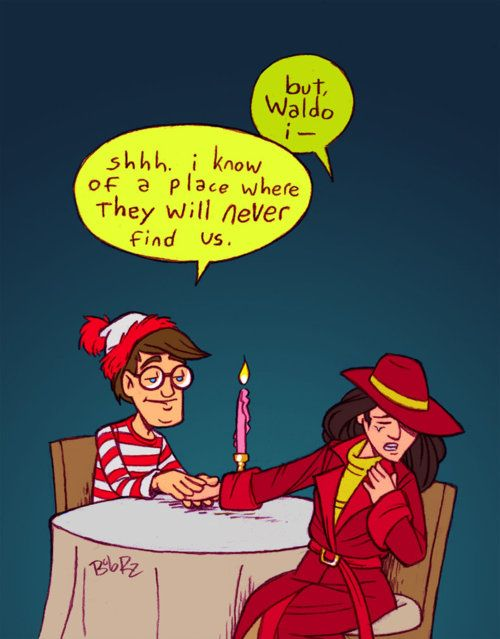 Where's Waldo & Carmen San Diego. Two epic characters from my childhood.
