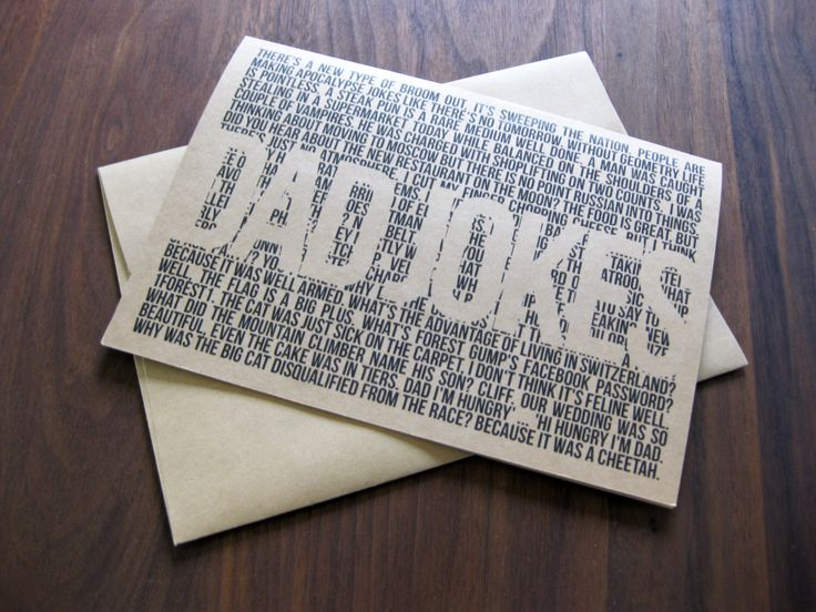 Funny Dad Jokes card | Kraft paper | Perfect for the father to be by AltaRoseDesigns on Etsy https://www.etsy.com/listing/233082688/funny-dad-jokes-card-kraft-paper-perfect