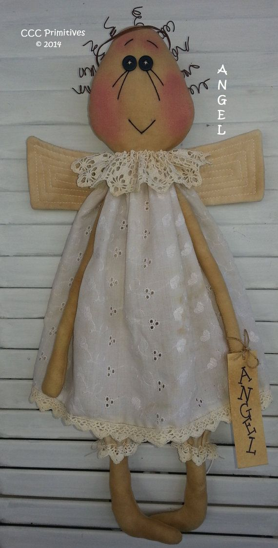 ANGEL Pattern Primitive Angel Pattern Handmade by CCCPrimitives, $9.00