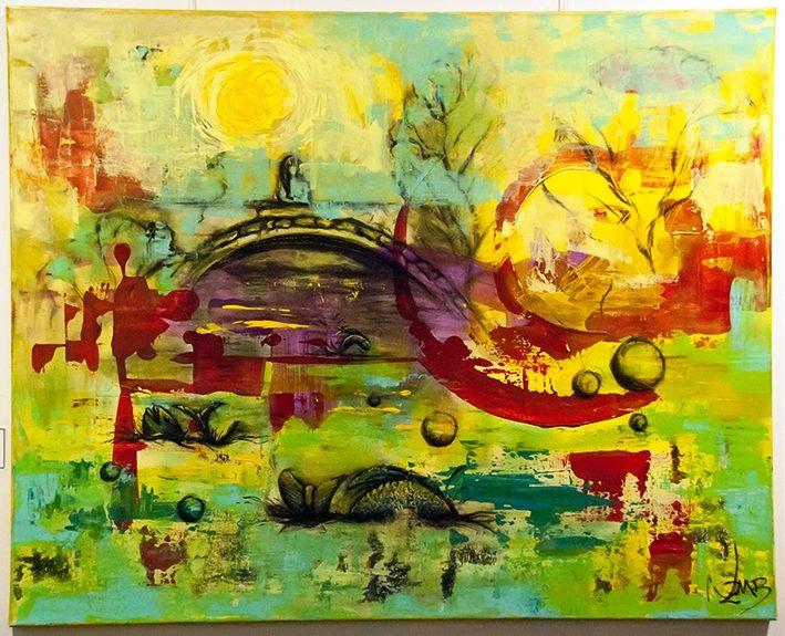 Brucke - $ 4500.- Acrílico 100 x 80 cm  Natalia Zambrana