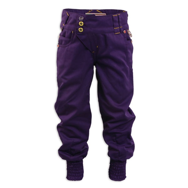 Broek - 4Funky Flavours - Ukkus kinderkleding // girls purple cuffed-hem pants // via uk:kus
