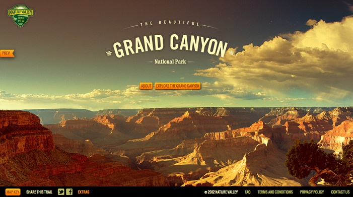 Site of the day 19 April 2012  http://naturevalleytrailview.com/  Nature Valley Trail View