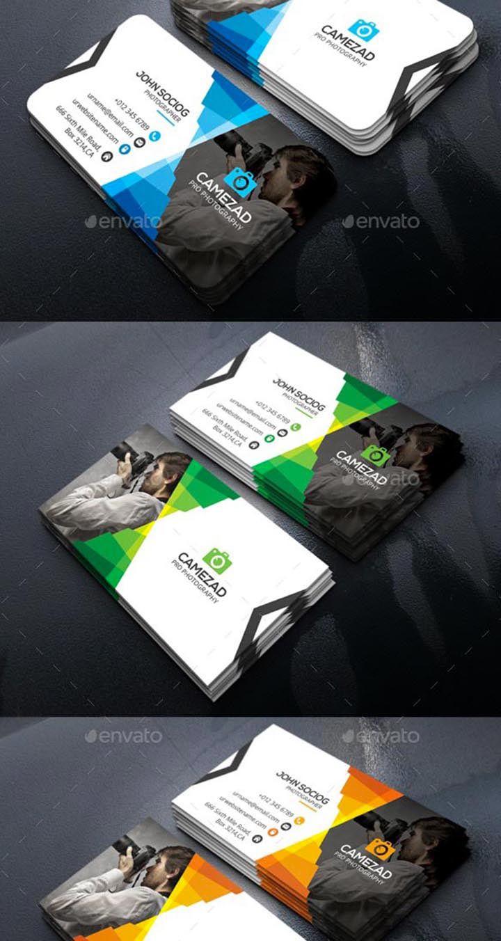 Audacieuse 15 modèles de cartes de visite PSD pour les photographe - Template SY-25