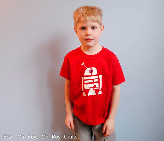 Stenciled R2D2 T-shirt by BeatnikKids on Etsy