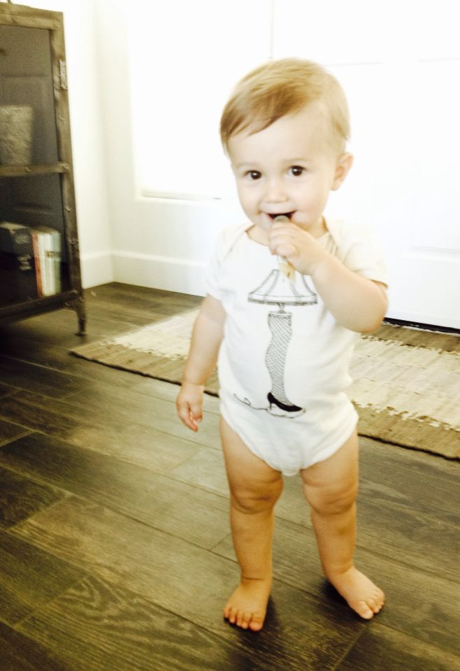 Leg Lamp Organic Onesie - perfect Christmas gift! Comes in toddler T-shirt as well.