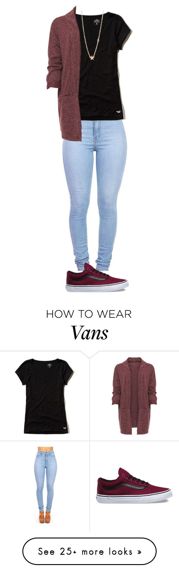 """Sin título #289"" by user-in-31 on Polyvore featuring Hollister Co., Vans, WearAll and Sydney Evan"