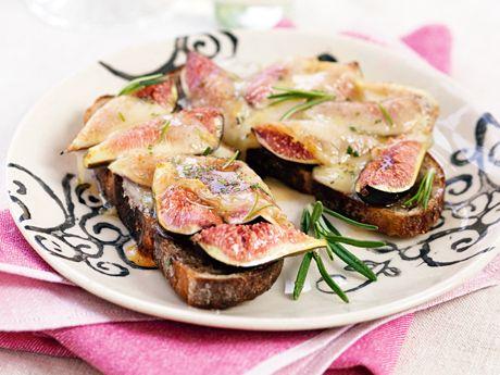 Fikon- och ostbruschetta