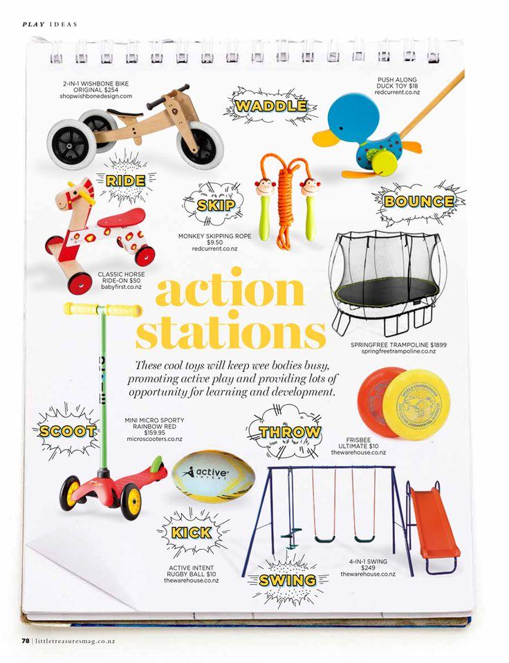 Little Treasures Magazine, Active Toys