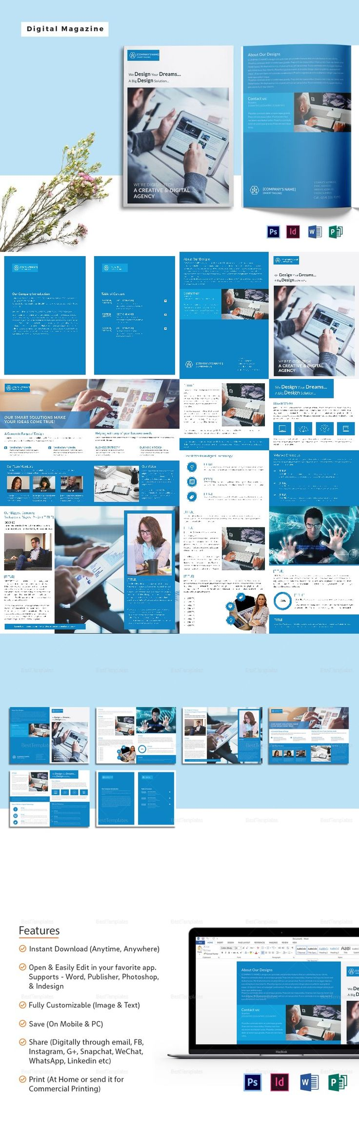 printable magazine templates