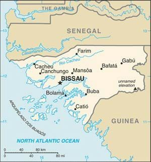 Guinea Bissau... where my ancestors are from.  I must go.