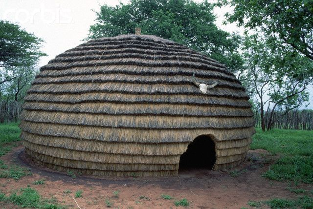 Africa Traditional Zulu Thatched House South Africa