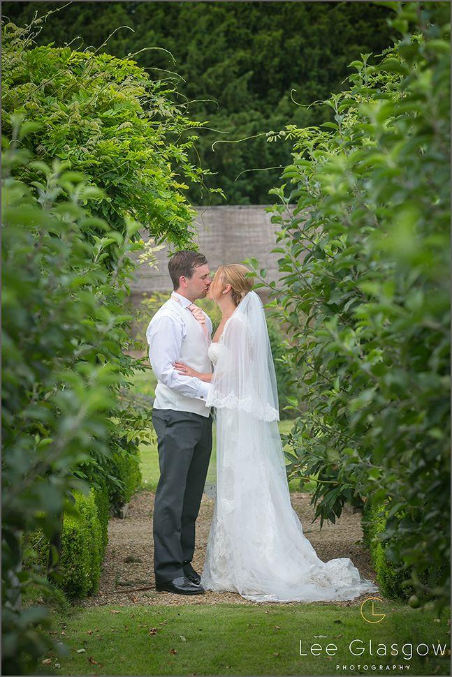 Bride and Groom at their Stapleford Park Wedding Venue.