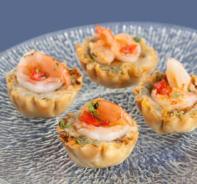 Shrimp And Pesto Mini Phyllo Shells Athens Foods