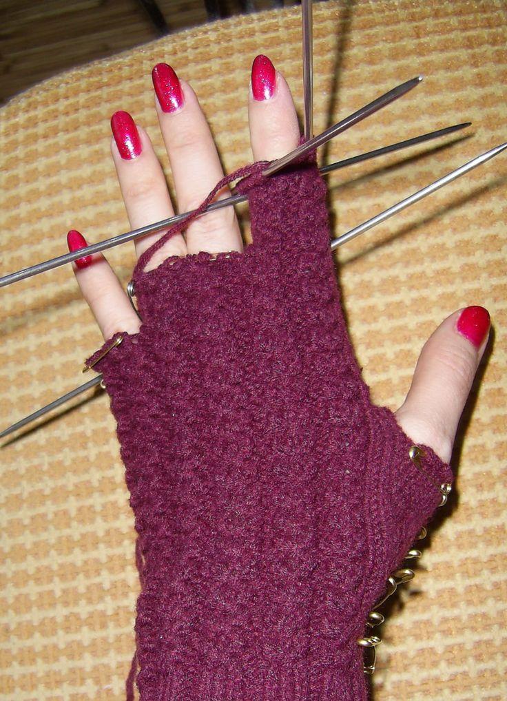 как связать перчатки спицами 8, инструкция