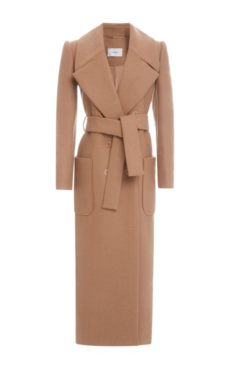 Long Belted Coat by Carven for Preorder on Moda Operandi