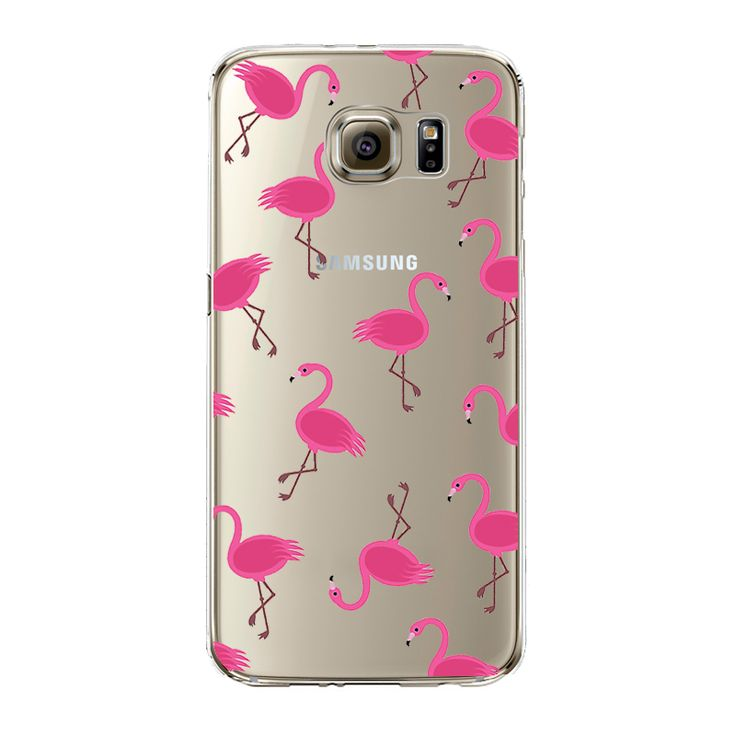 Soft Colorful Flamingo Case Cover For Samsung Galaxy S3 S4 S5 S6 S7 Edge J5 A3 A5 2016 Note 7 Grand Prime Transparent Silicone