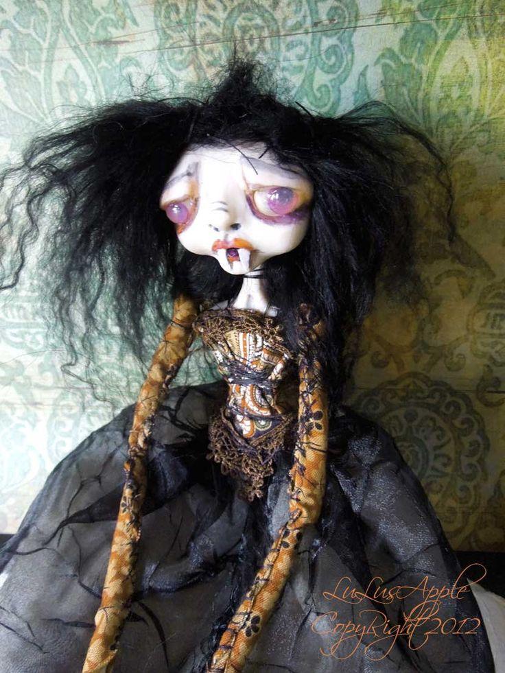 Gothic vampire art doll sad creepy ooak victorian goth for Creepy gothic pictures