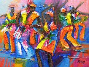 Tobago Painting - Carnival Jump Up by Cynthia McLean