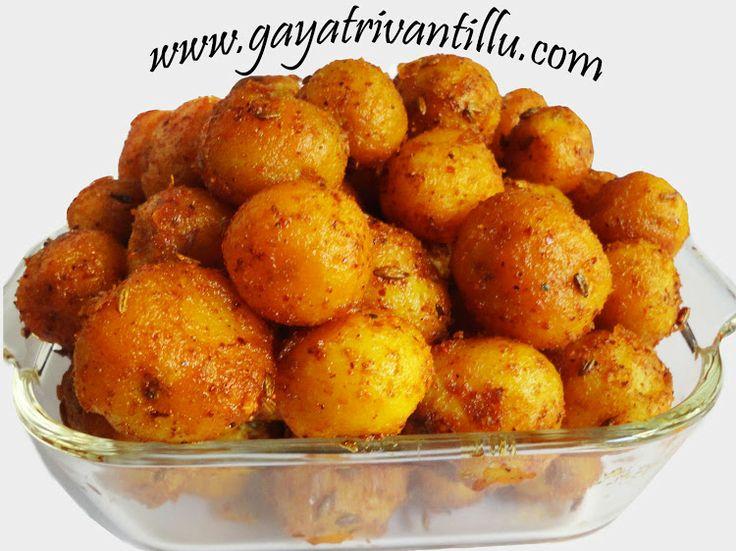 Baby potatoes fry bangaladumpala vepudu andhra telugu for Andhra cuisine vegetarian