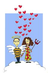 Newly married couple greeting card  armoliacrafts