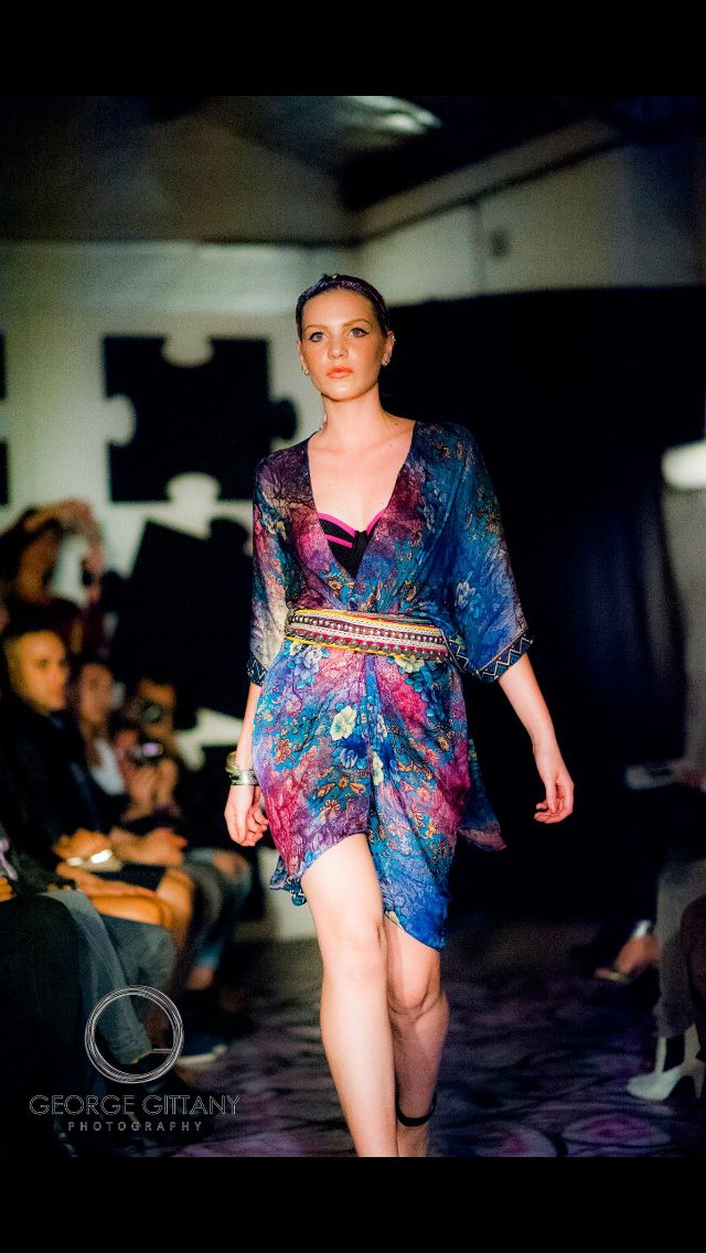 Silky Jean Fashion Show SS15 #silkyjean #silk #kimono #tassel #fashionshow www.silkyjean.com