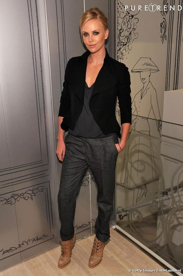 low boots #charlize-theron