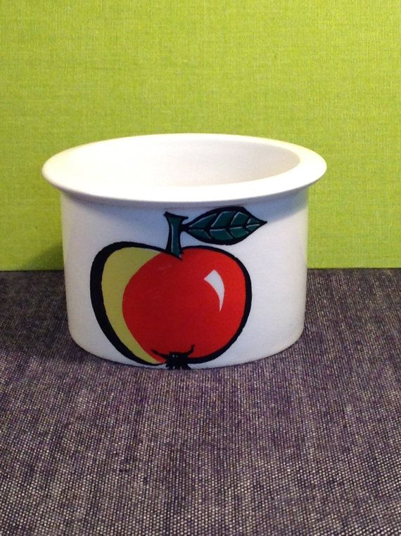 Mid century Arabia of Finland Pomona apple Jam jar by PetiteKaty, €20.00