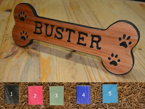 Pet Name Tag With Color Options Dog House Signs Personalized