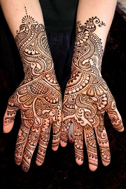 Mehndi..... the design work is awesome! The terms Mehndi & henna can be interchanged, but really Mehndi is the use of the henna plant in 'tattooing or dying of the hair'.