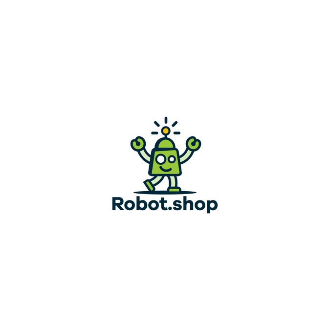 Freelance Work Projects ROBOT.SHOP LOGO DESIGN by oink! design